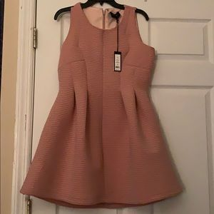 Cute light pink mini dress